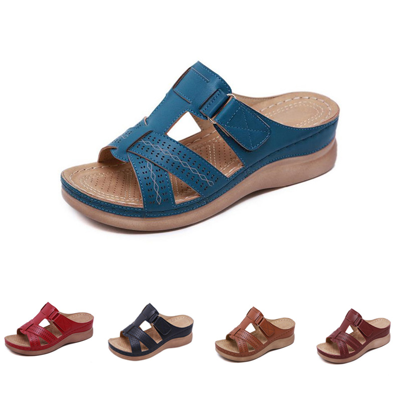 Summer-Sandals-Women-Car-Line-Wear-resistant-Slip-on-Large-Size-Ladies-Wedge-Shoe-With-Thick