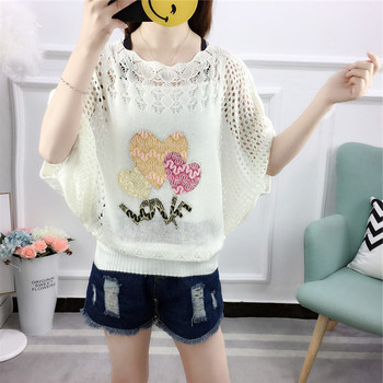 white love sweater for women o-neck