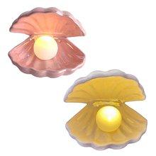 Керамика оболочка жемчужные украшения ночной Светильник Настольный