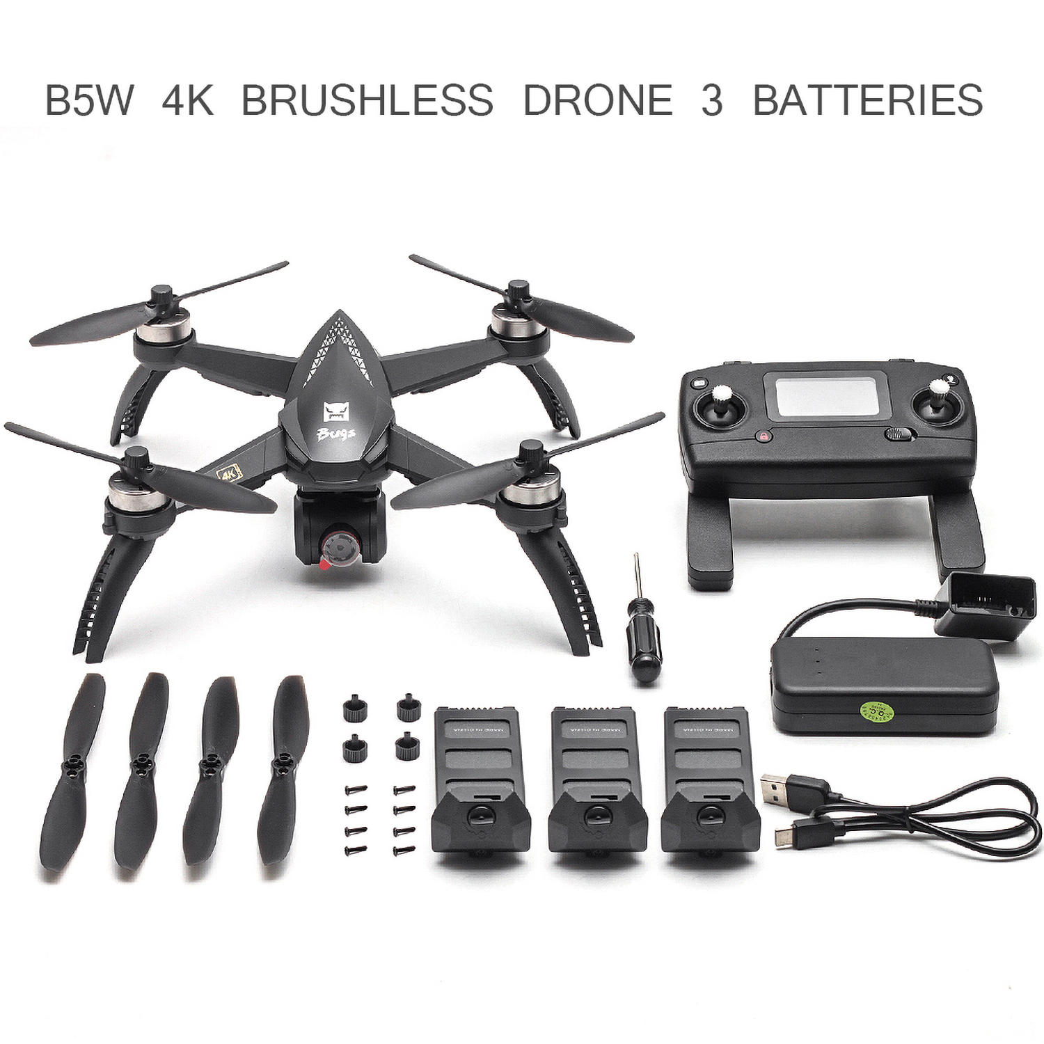 MJX Bugs 5W B5W Professional RC Drone with Camera 4K Drone Camera HD 5G Wifi Brushless RC Quadcopter GPS Gesture Photo Vs H501S