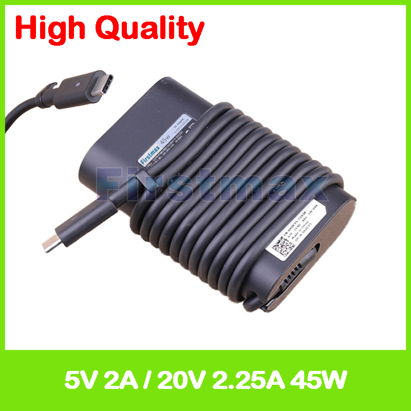 Ac Power Adapter Charger Cord for Dell Latitude 7275 Notebooks 45W