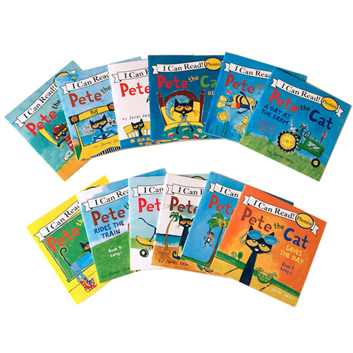 12 Book/Set I Can Read The Pete Cat English Books For Kids Story Book Educational Toys For Children Pocket Reading Book 13x13CM 2