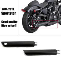 Black exhuast mufflers for harley sportster XL 883N Iron 1200X Forty Eight Shortshots Exhaust Pipes 2014 2020