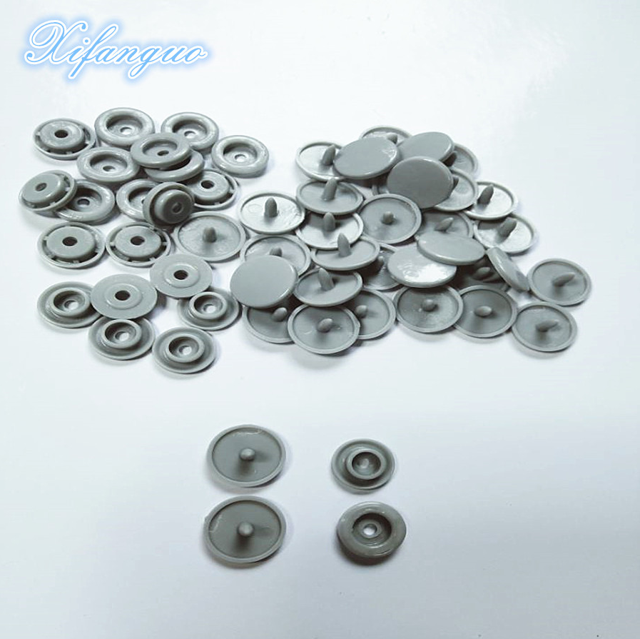 200 sets of T5 10mm round plastic snap buttons quilt cover cloth button clothing accessories(China)