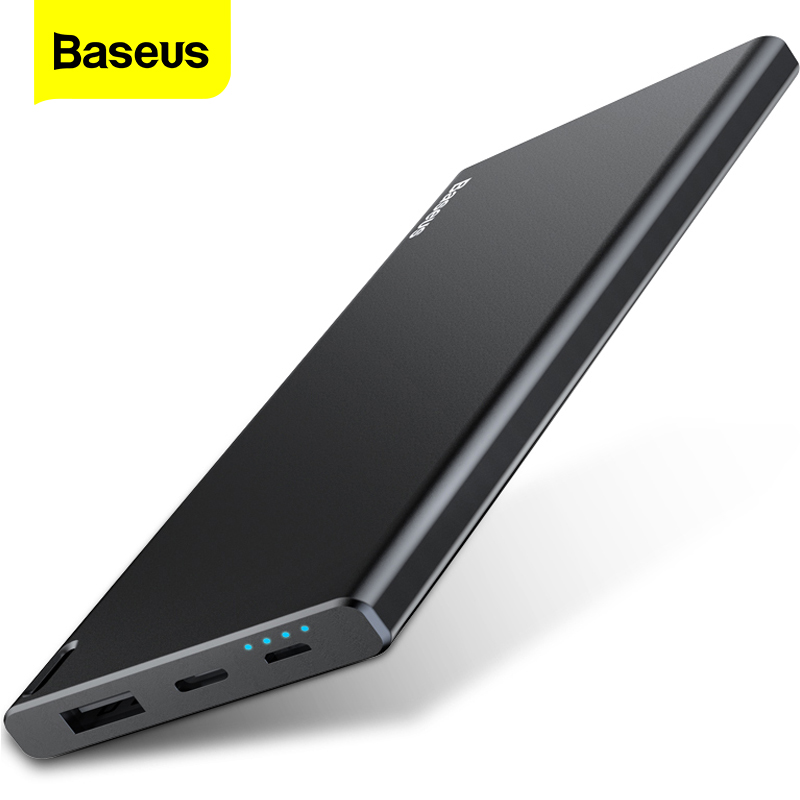 Baseus 10000 mah power bank 10000 mah carregamento portátil powerbank para iphone xiao mi 9 carregador de bateria externa poverbank