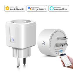 Apple Homekit /Tuya Smart Home EU US Smart Socket 10A 15A  Manual /WiFi Power Plug Adaptor Siri Voice Control /Alexa Google Home
