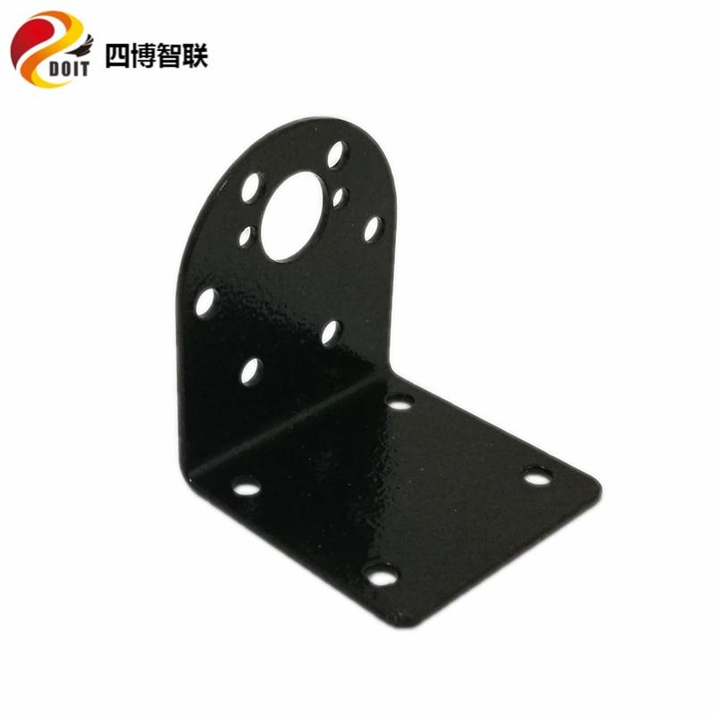 Soporte de soporte de motor de engranaje de metal de 25 mm Soporte fijo para modelos de control remoto RC negro