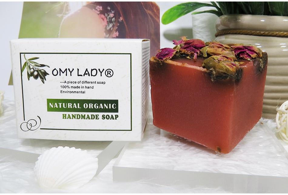 Купить с кэшбэком New Rose Essential Oil  Flower Cleaner Removal Face Bath Wash Treatment Deep Clean Moisturizing Whitening Soap Base Skin Care