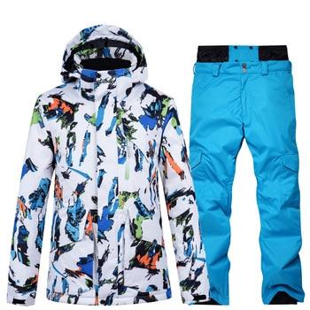 2020 New Winter Warm Windproof Snowboard Jacket Men Waterproof Outdoor Sports Snow Jackets and Pants Skiing Clothes Ski Suit trvlwego outdoor ski suit men s windproof waterproof thermal snowboard snow skiing jacket and pants sets winter sports clothes