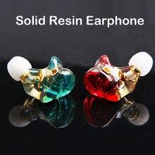 FDBRO Earphone Resin Dynamic 3.5mm in Ear Wired Earphones No Mic Super Bass HiFi Running Sport Headset MMCX Audio Fever Earbuds