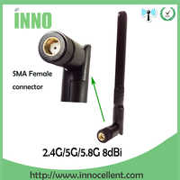 2PCS 2.4GHz 5.8Ghz Dual Band wifi Antenna 8dBi Omni-Direzionale Antenna WIFI SMA femminile router wireless