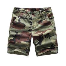 Шорты-карго мужские камуфляжные, Плотные хлопковые повседневные пляжные, в стиле милитари, армейский Стиль, тактическая одежда