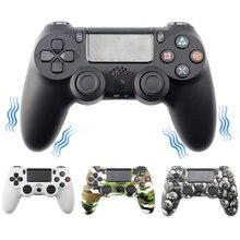 Bezprzewodowy Gamepad Bluetooth kontroler dla Sony PS4/PS3 USB przewodowy Joystick Controle dla Dualshock 4 Joypad dla Ps4 na PC WIN/7/8