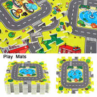 9pcs 30*30cm Baby Playmat EVA Foam Puzzle Floor Pad No Edge Carpet City Road Education Exercise Mat Baby Indoor Crawling Mat