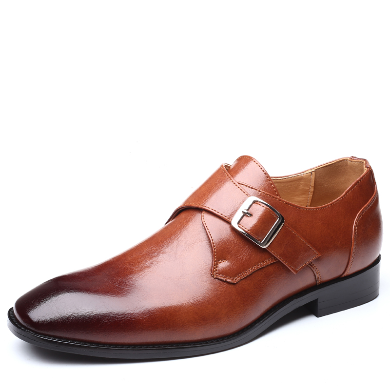 Men Dress Shoes Handmade British Style Paty Leather Wedding Shoes Men Flats Leather Oxfords Formal Shoes
