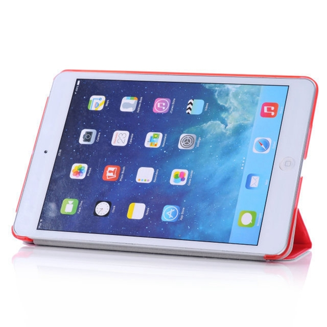 Funda de cuero PU Mini funda Original plegable soporte Ultra delgado inteligente Flip funda protectora para iPad Mini 1 2 3