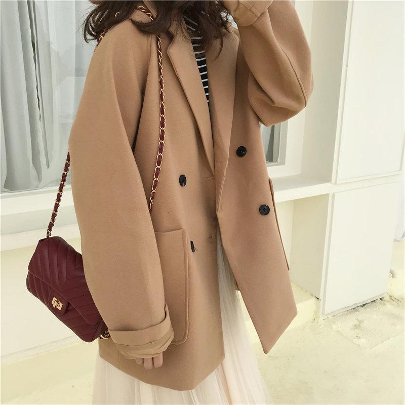 HziriP Khaki Slender Office Lady Blazers 2020 Notched Work Wear Tops Femme Women New Style Loose Solid Elegant Retro Blazer Coat