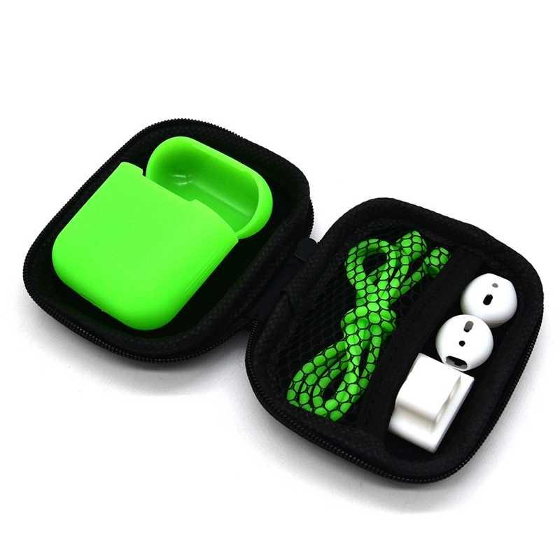 Jiyaru 2019 caja de auriculares accesorios de viaje monederos de monedas bolsa de dinero estuche de auriculares portátil bolsas de auriculares de embalaje Organzier