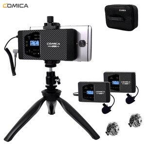 Image 1 - ワイヤレススマートフォンマイク Comica CVM WS60 ラベリアラペル iphone/Sumsang Huawei 社の Android 携帯ビデオ録画