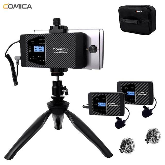ワイヤレススマートフォンマイク Comica CVM WS60 ラベリアラペル iphone/Sumsang Huawei 社の Android 携帯ビデオ録画