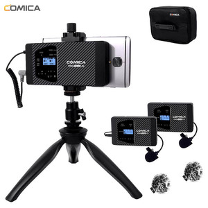 Image 1 - Wireless Smartphone Microphone Comica CVM WS60 Lavalier Lapel Microphone for iPhone/Sumsang Huawei Android Phone Video Recording