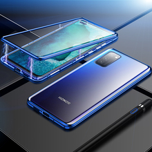 360 Full Magnetic Phone Case For Huawei Honor V30 Pro V30 Case Double Side Glass Cover Protection Bumper For Honor V30 Pro 2 1mm thick luxury bumper case for huawei honor v30 germany bayer material case honor v30 pro independent plating button cover