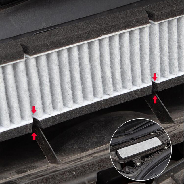 Car Air Conditioner External Intake Filter Element Air inlet screen For Tesla Model 3 Model Y 2017-2020 effective blocking PM2.5 4