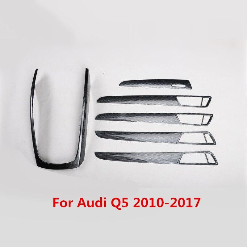 Наклейка на панель шестерни автомобиля из углеродного волокна для Audi Q5 2010 2011 2012 2013 2014 2015 2016 2017