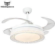 Ancients Ceiling Fan Remote Control Living Room Modern Art Cooling Fans Home Lighting Lamps Fixtures