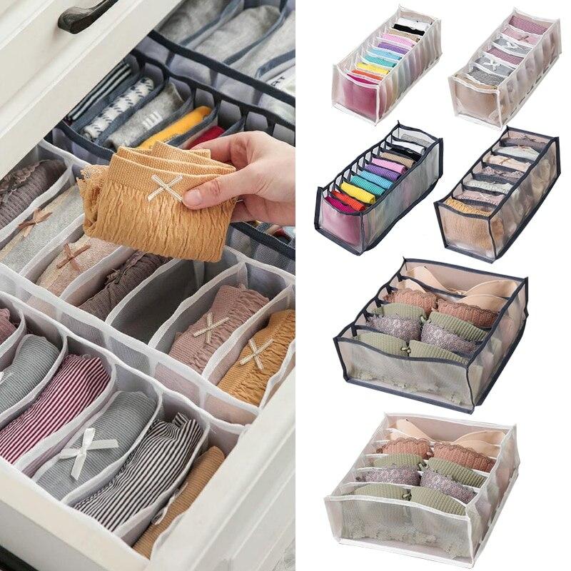 Praktische Multi-grids Unterwäsche Lagerung Box Socke Bh Unterhose Organizer Gitter Mesh Schublade Ordentlich Teiler Grid unterwäsche