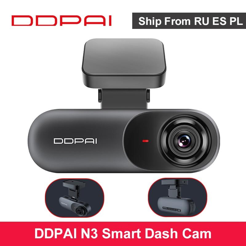 Ddpai traço cam mola n3 1600p hd gps veículo unidade de vídeo automático dvr 2k android wifi inteligente conectar gravador de câmera do carro 24h estacionamento