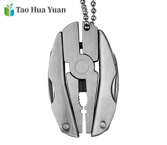 Portable/Mini EDC multifonction pliant pince 2CR13 couteau pliable porte-clés tournevis en plein air Camping survie outils à main AAA