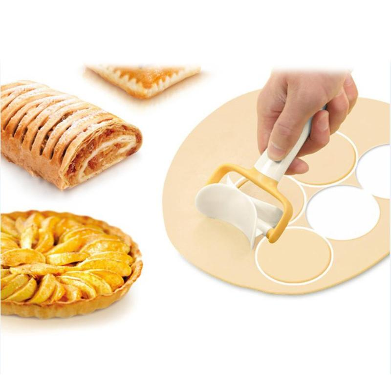 3pcs/set Biscuit Molds Square Round Lovely Cookie Pastry Cake Rolling Cutter Moulds Plastic Kitchen DIY Baking Accessories