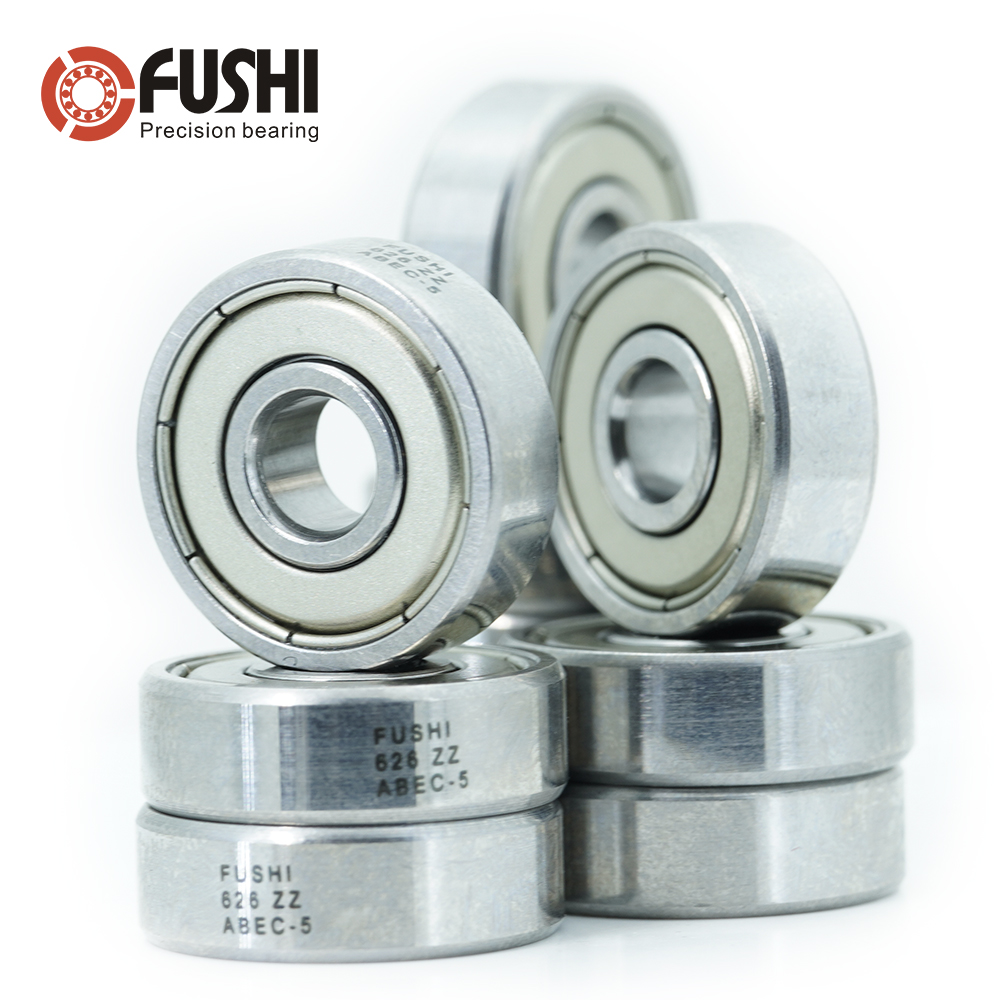 NO-LOGO CMM-Y 626RS Bearing ABEC-3 10PCS 6X19X6 mm Miniature Double Sealed Ball Bearings 626 RS 2RS