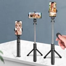 3 In 1 Tripod Bluetooth Selfie Stick for Iphone For Xiaomi/samsung Holder Stick Remote Control Selfie Stick