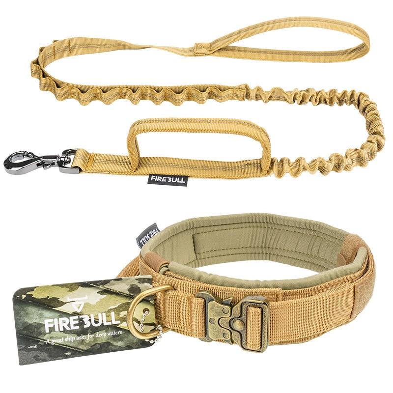 Tactical Dog Collar Leash Set Adjustable Pet Outdoor Military Training Hunting Quick Release Medium Large Dogs German Shepherd