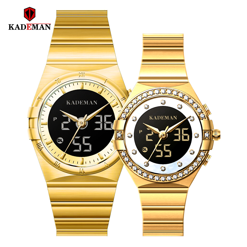 KADEMAN Brand Luxury Lover Watches Quartz Calendar Dress Women Men Watch Couples Wristwatch Relojes Hombre 2019 With Box
