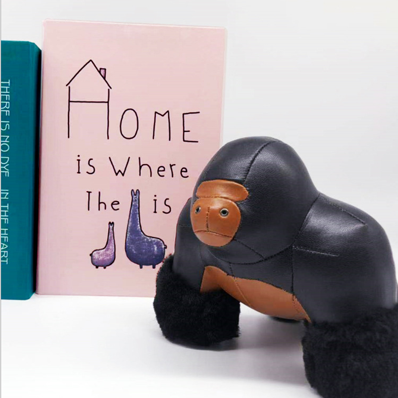 Cuir PU roi Kong ape serre livres presse papiers artisanat ornement Art décoration de la maison souvenir créatif personnaliser cadeau d'anniversaire - 6