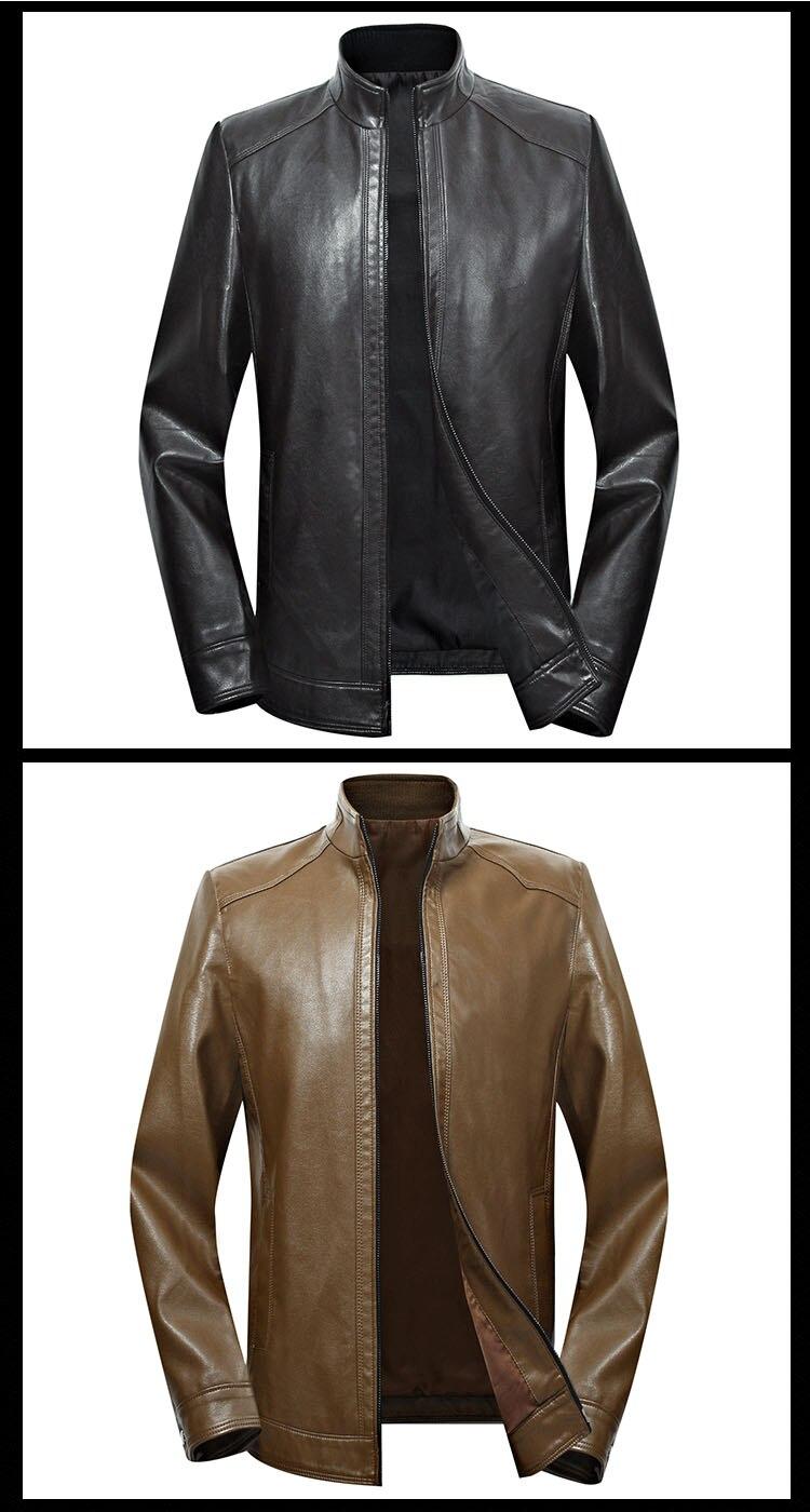H964856bbcb734112b207134455d69bd0S Plus size men genuine leather jacket 4XL 5XL 6XL 2020 spring and autumn zipper male sheepskin leather jacket father outwear P07