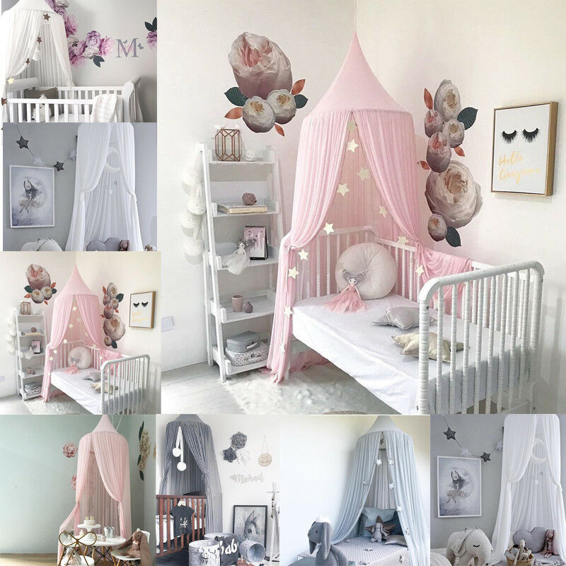 Children's Tent Chiffon Mosquito Net Summer Dome Bed Curtain For 0-9Y Baby Cot Canopy Home Decoration Cute Princess Room Netting