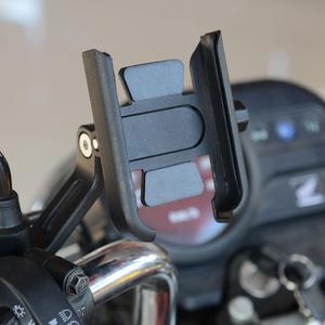 Image 5 - 360 grad Universal Metall Bike Motorrad Spiegel Lenker Smart Telefon Halter Stehen Halterung Für iPhone Xiaomi Samsung 4 6,5 zoll P