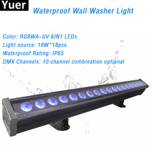 Waterproof LED Wall Washer Light IP65 18W RGBWA-UV Outdoor Spotlight Suitable For Lighting Garden Party Club Bar Stage