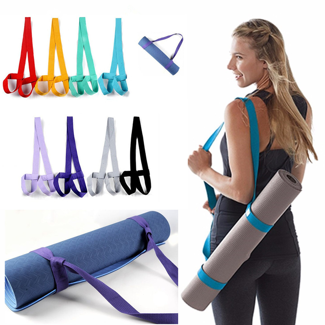 Yoga Mat Sling Carrier Adjustable Yoga Mat Straps Belt Shoulder Carrier Yoga Straps Exercise Stretch Yoga Belt Fitness Equiment