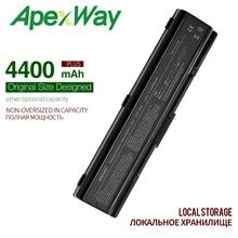 4400MAH Battery For Toshiba  PA3533U-1BAS PA3534U-1BRS PA3534U  for Satellite A500 A205 A21 A300 A200 L300 L450D L500 L505  A215 wholesale laptop battery for toshiba satellite a200 l500 l505 l550 a505 series pabas174 pabas09 6 cells