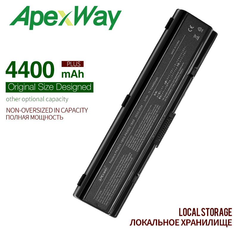 4400MAH Battery For <font><b>Toshiba</b></font> PA3533U-1BAS PA3534U-1BRS PA3534U for Satellite A500 A205 A21 A300 A200 L300 L450D <font><b>L500</b></font> L505 A215 image
