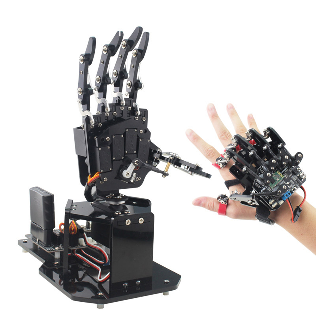 2020 New Recommend 1 Pcs Programmable Robot Palm Bionic Open Source Palm With Body Induction Gloves For STM32