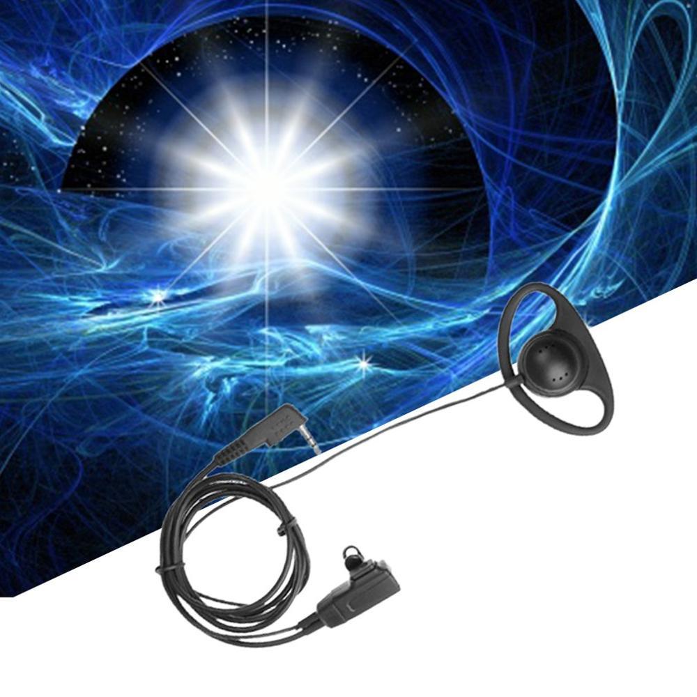 2 Pin D-Shape Earpiece Headset MIC PTT Mic Earpiece Earphone for Baofeng for Kenwood for Puxing TYT Radio