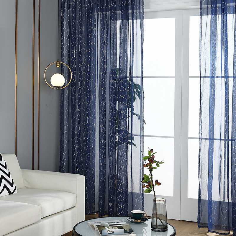 Nordic Style Bronzing Tulle Curtains Children's Bedroom Kids Window Treatments Sheer For Living Room Finished Customization