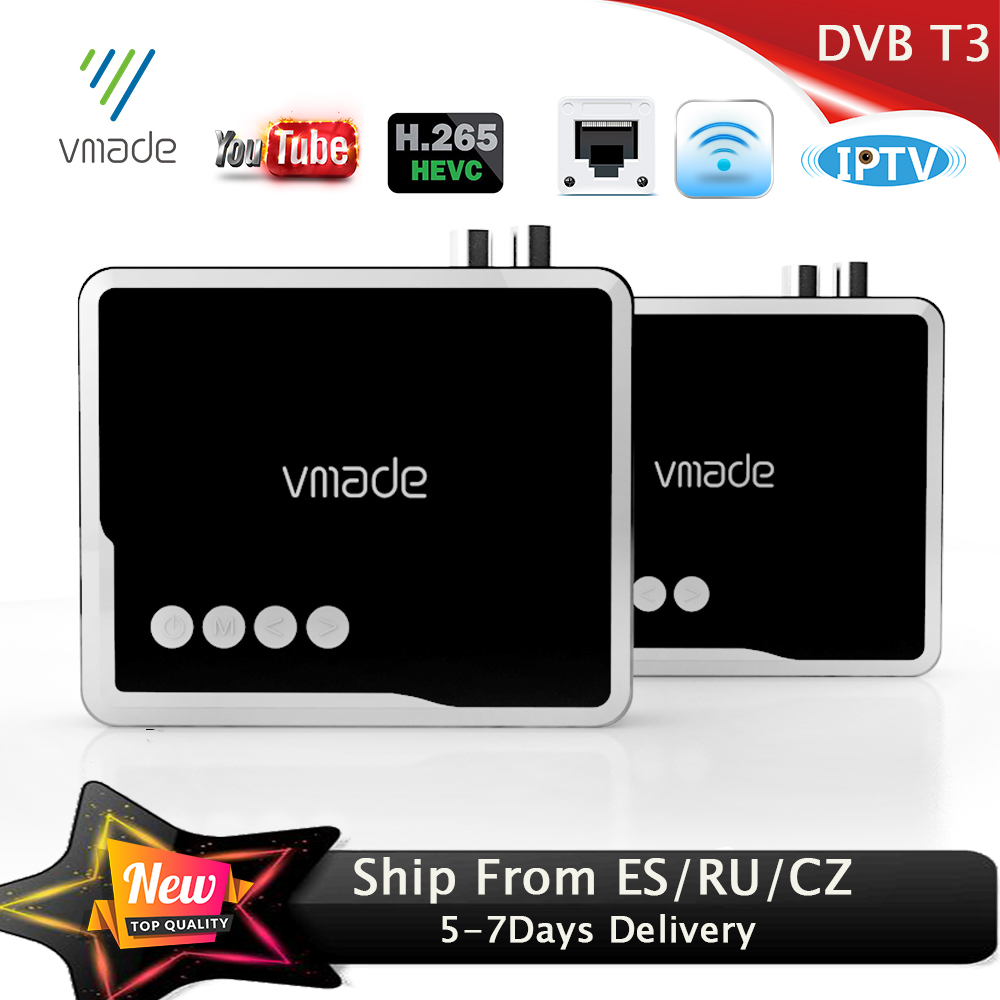 Vmade 2019 HD 1080P Terrestrial Receiver DVB T2 Decoder H.265 With RJ45 DVB-T2 TV Tuner Support WIFI Youtube IPTV AC-3 Decoder