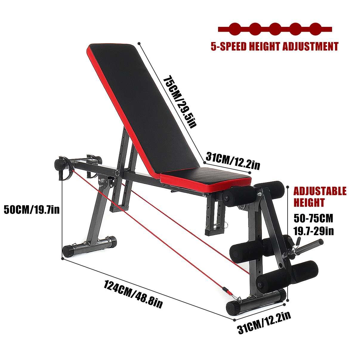 Banc d'entraînement de remise en forme en acier multifonctionnel Durable Stable et confortable - 3
